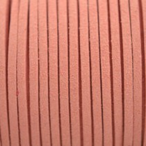 Oranje Imitatie suede zalm 3x1,5mm -3 meter
