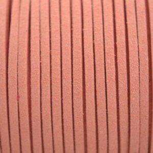 Oranje Imitatie suede zalm 3x1,5mm - 2 meter