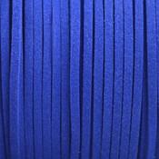 Blauw Imitatie suede Hollands blauw 3x1,5mm -3 meter