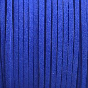 Blauw Imitatie suede Hollands blauw 3x1,5mm - 2 meter