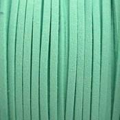 Groen Imitatie suede mint groen 3x1,5mm -3 meter