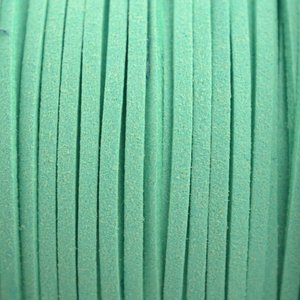Groen Imitatie suede mint groen 3x1,5mm - 2 meter