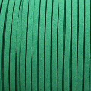 Groen Imitatie suede zeegroen 3x1,5mm -3 meter