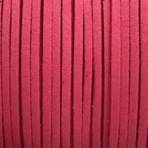 Roze Imitatie suede roze rood 3x1,5mm -3 meter