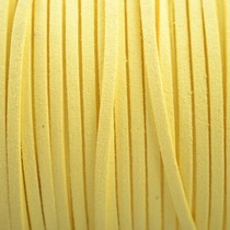 Geel Imitatie suede licht geel 3x1,5mm -3 meter