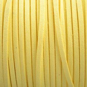Geel Imitatie suede licht geel 3x1,5mm - 2 meter