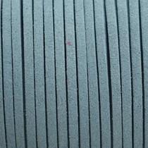Blauw Imitatie suede blauw grijs 3x1,5mm -3 meter