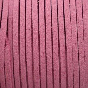 Roze Imitatie suede oud roze 3x1,5mm - 2 meter