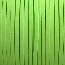 Groen Imitatie suede fluor groen 3x1,5mm - 3 meter