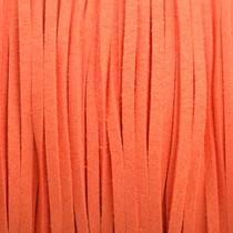 Oranje Imitatie suede fel oranje 3x1,5mm -3 meter