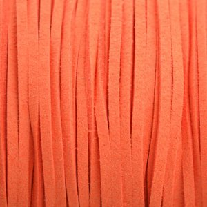 Oranje Imitatie suede fel oranje 3x1,5mm - 2 meter