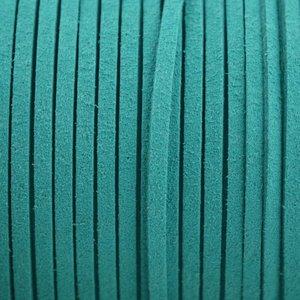 Blauw Imitatie suede petrol 3x1,5mm - 2 meter