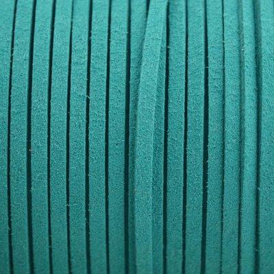 Blauw Imitatie suede petrol 3x1,5mm - 3 meter