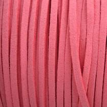 Roze Imitatie suede hot pink 3x1,5mm -3 meter