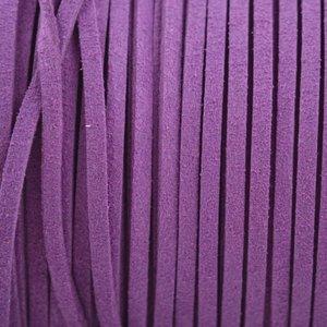 Paars Imitatie suede fel paars 3x1,5mm - 2 meter