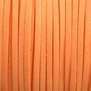 Oranje Imitatie suede oranje 3x1,5mm - 2 meter