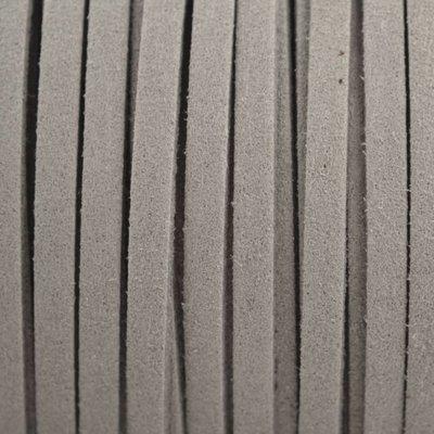 Grijs Imitatie suede grijs 5x1,5mm - per meter