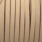 Bruin Imitatie suede beige 5x1,5mm - per meter