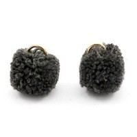 Grijs Pom pom bedels Anthracite black Gold 15mm
