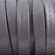 Zilver Plat nappa leer Zilver mini dots metallic 10x2mm - prijs per cm