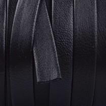 Zwart Plat nappa leer Zwart 10x2mm - prijs per cm