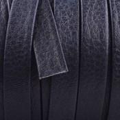 Blauw Plat nappa leer Dark navy blue 10x2mm - prijs per cm