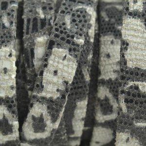 Wit Plat nappa leer Black & White 10x2mm - prijs per cm