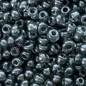 Grijs Rocailles glas Anthracite grey transparent 6/0 (4mm) - 20 gram