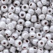 Grijs Rocailles glas Soft grey-pearl shine 6/0 (4mm) - 20 gram