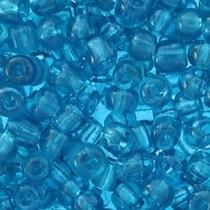 Blauw Rocailles glas Blue zircon transparent 6/0 (4mm) - 20 gram