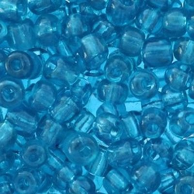 Blauw Rocailles glas Blue zircon transparent 6/0 (4mm) - 20 gram