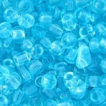 Blauw Rocailles glas Light blue transparent 6/0 (4mm) - 20 gram