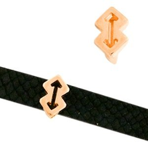 Rosegoud Leerschuiver arrow Ø10x2mm Rosegoud DQ 9x14mm