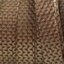 Antiek Goud Brons Plat Italian leer Naturel bronze metallic 10x2mm - prijs per cm