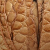 Bruin Plat Italian leer Naturel croco 10x2mm - prijs per cm