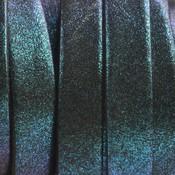 Blauw Plat Italian leer Blue glitter 10x2mm - 22cm