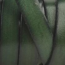Groen Plat Italian leer Bottle green 10x2mm - prijs per cm