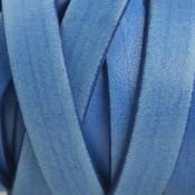 Blauw Plat Italian leer Vintage blauw 10x2mm - prijs per cm