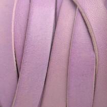 Roze Plat Italian leer Lila roze 10x2mm - prijs per cm
