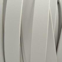 Wit Plat Italian leer Wit 10x2mm - prijs per cm