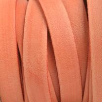 Oranje Plat Italian leer Vintage peach 10x2mm - prijs per cm