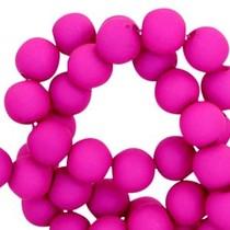Roze Acryl kralen mat Bright violet purple 8mm - 50 stuks
