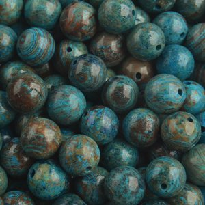 Blauw Edelsteen Striped agaat aqua bruin 8mm