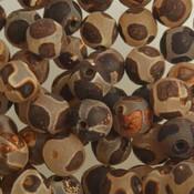 Bruin Edelsteen agaat creme met donker bruine vlekken 8mm