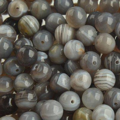 Grijs Edelsteen agaat Botswana grijs 8mm