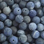 Blauw Edelsteen Frosted Sodaliet 8mm