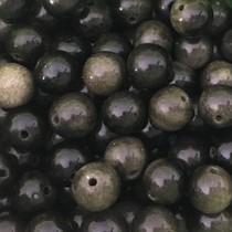 Zwart Edelsteen Gold Sheen Obsidian 8mm