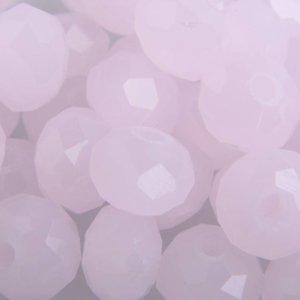 Roze Facet rondel baby roze opaal 8x6mm - 35 stuks