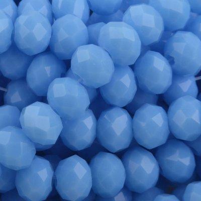 Blauw Facet rondel Blue opaque 8x6mm - 35 stuks