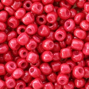 Roze Rocailles glas Rose red opaque 6/0 (4mm) - 20 gram